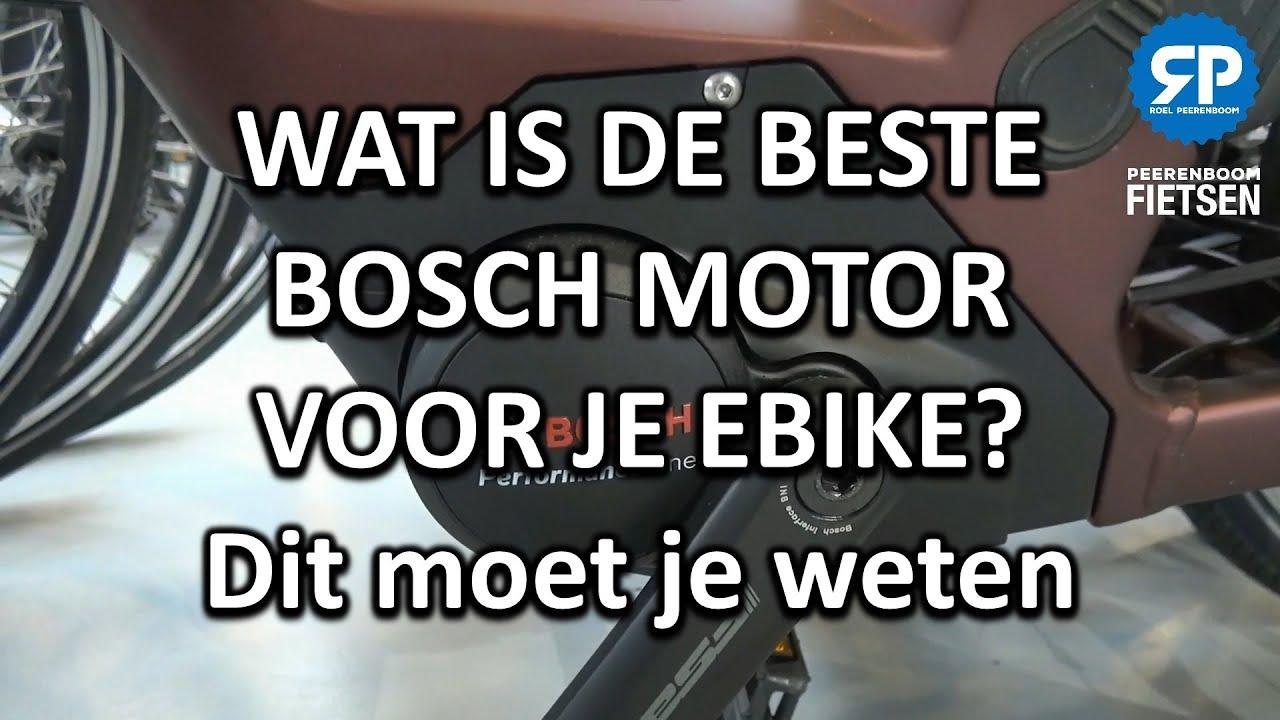 WAT IS DE BESTE BOSCH MOTOR VOOR JE EBIKE? Dit moet je weten