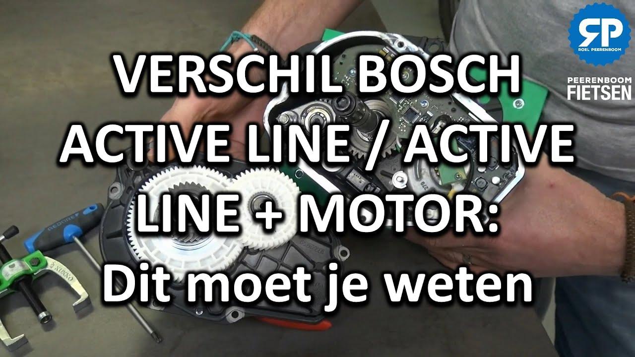 VERSCHIL BOSCH ACTIVE LINE / ACTIVE LINE + MOTOR: Dit moet je weten