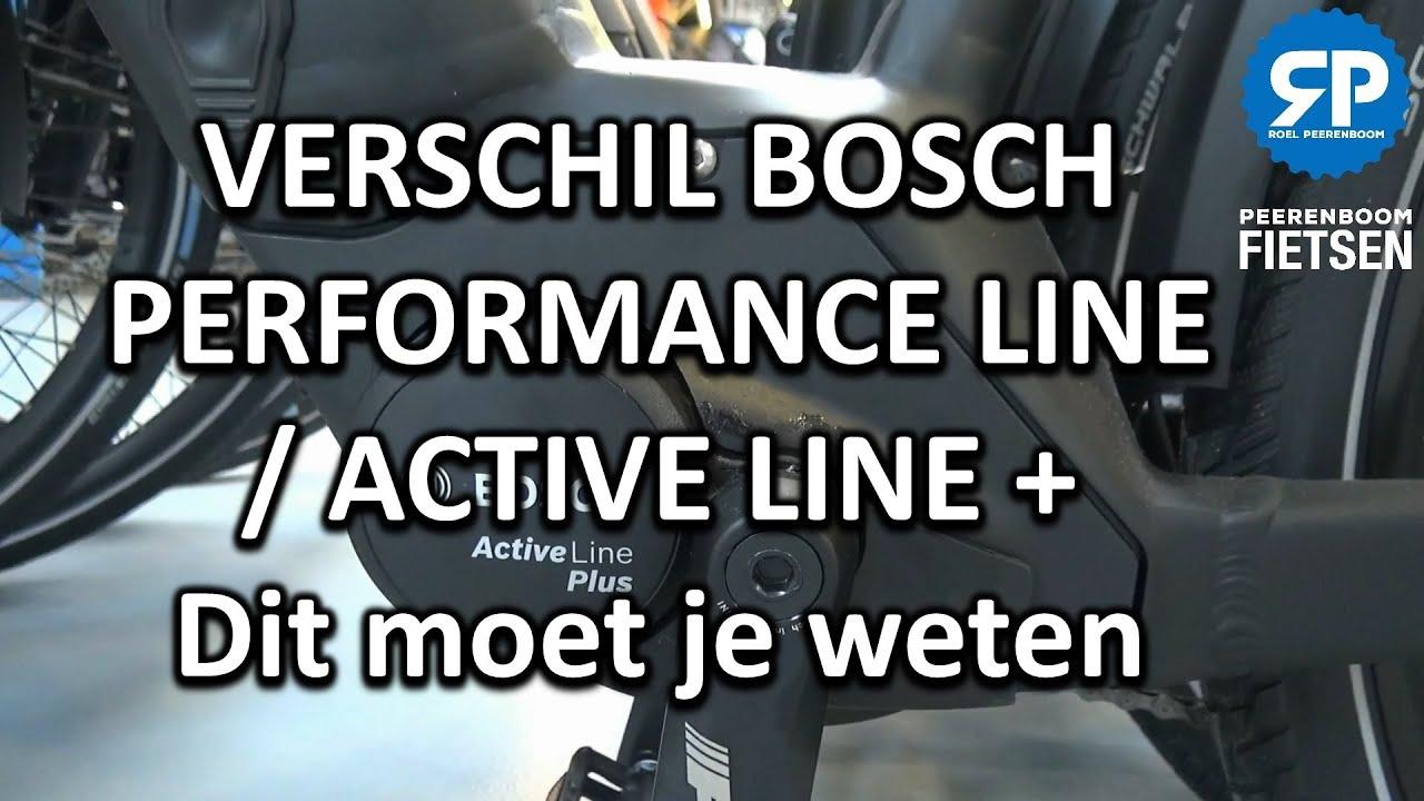 VERSCHIL BOSCH PERFORMANCE LINE / ACTIVE LINE + MOTOR; Dit moet je weten