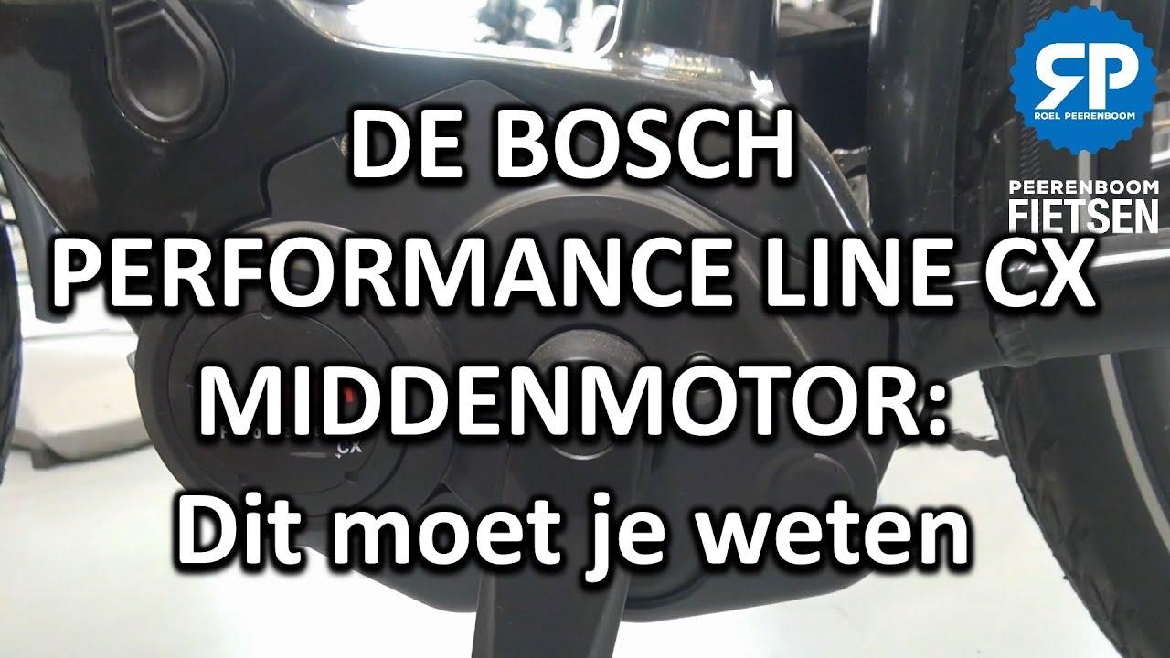 DE BOSCH PERFORMANCE LINE CX MIDDENMOTOR: Dit moet je weten